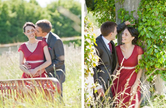 séance de photo de couples dans les jardins du chateau Freslonniere près du Mans