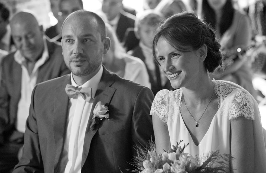 portrait de mariés durant l une cérémonie laïque