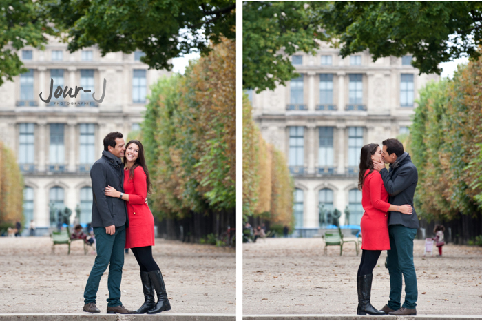 portraits-couple-paris-jardin-tuilleries- Séance de portraits dans Paris