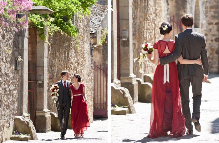 séance de photo de couples dans les rues du vieux Mans