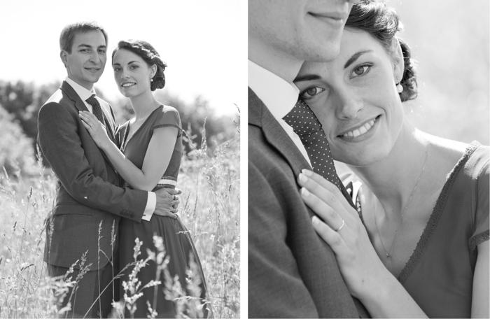Séance de photo de couples au chateau Freslonniere lors d'un mariage.