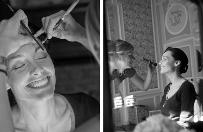 Seance maquillage chateau de la freslonniere près du mans
