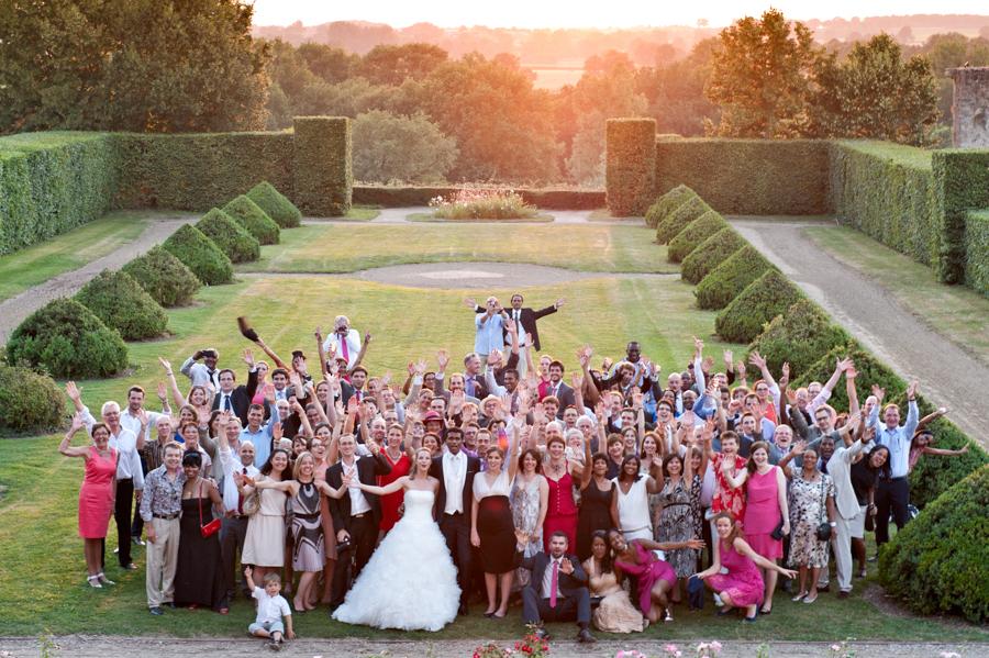 photo de groupe lors d'un mariage