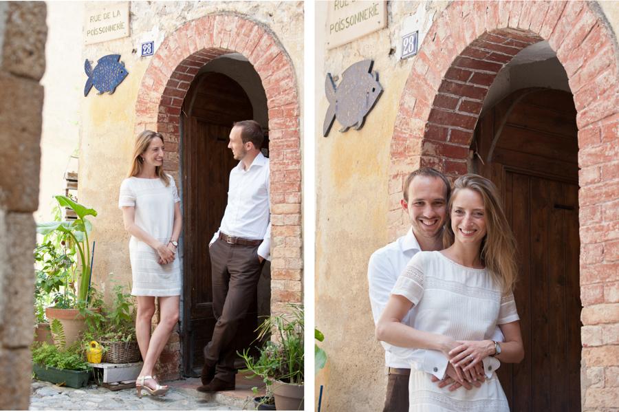 Portrait de couple à Biot près d' Antibes. Couple qui couple qui se promene - lors d'une session photo à Biot près d' Antibes.
